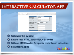 Create an interactive online calculator page / app