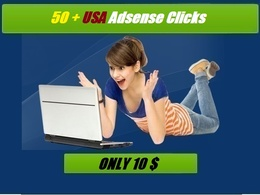 Give you Safe 50 USA google adsense clicks
