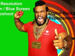 Take a green screen photoshoot with your product as Mr T