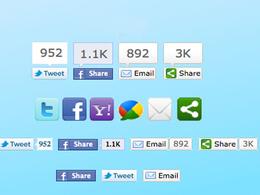 Setup social shearing button your wordpress site