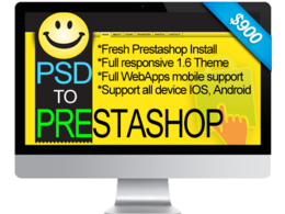 Create PSD to  prestashop 1.6.x full responsive custom theme, ready eCommerce