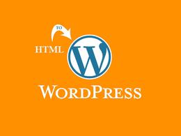 Convert static HTML website to Wordpress