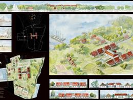 Design architecture or urban design watercolour