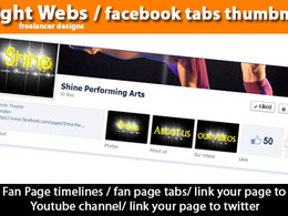 Design 3 tabs for your Facebook business page