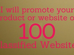 Post your product or website on 100 classified sites