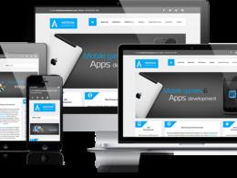 Design and develop responsive Wordpress or Drupal  website