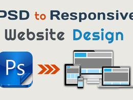 Convert PSD to responsive HTML5/CSS3 using Bootstrap