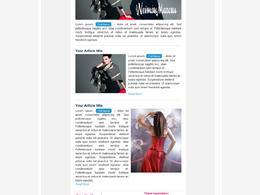 Design an aweber email newsletter template