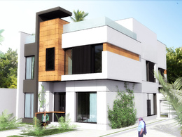 Make one realistic 3D render from  your 2D floor plans, using Artlantis and Photoshop