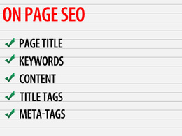 Make Onpage SEO Improvements Optimize Keywords Meta, Alt Tag etc