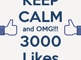 Add 3000 genuine Facebook likes to increase your fb popularity