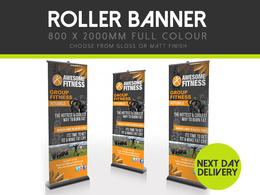 Print a roller banner with Next Day Delivery