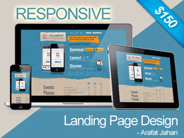 Create & upload a professional responsive landing / holding page