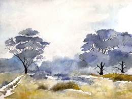Make watercolour landscape for you