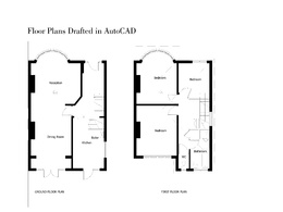 Make house floor plans drafted in autoCAD from Client dimensioned sketches & photos