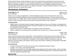 Create 2 well organized resume for you