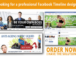 Design your Facebook and twitter timeline cover  to make your business stand out