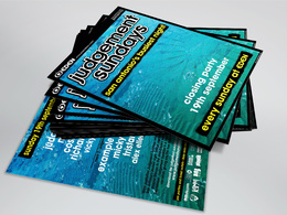 Design a stunning double sided club or event flyer / leaflet
