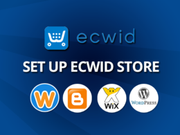 Set up ecwid store