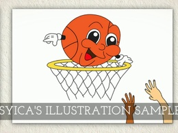 Draw a high quality catchy illustration