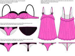 Create a lingerie technical drawing / CAD from your photo or sketch