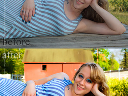 Do photo retouching on a professional level for 5 images