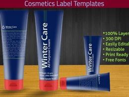 Design professional cosmetics label