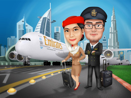Draw premium digital caricature/cartoon or illustration