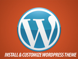 Install & customize your wordpress theme
