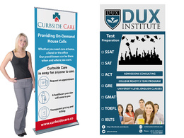 Do wonderful trade show/pop up/roll up/pull up/Exhibition banner in Illustrator