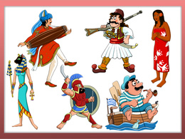 Design a beautiful ethnic cartoon character in vector