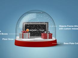 Create a custom Christmas Snowglobe to wish friends or customers a Happy Christmas