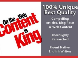 Write a 300+ word article for your blog