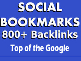 Manually create 800 social bookmark SEO backlinks and ping them for fast indexing