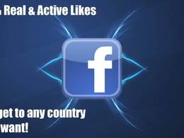 Add 500 real human Country targeted Likes to your Facebook Fanpage