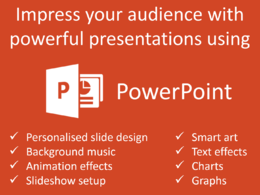 Create a static Powerpoint presentation (price per slide)