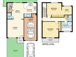 Redraw, convert  hand sketch to 2d marketing floor plans and site plan