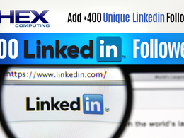 Add 400 Unique LinkedIn Followers to your Company Page