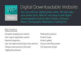 Make a digital download website ( Songs, E-books, Softwears ) in Wordpress platform