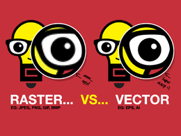 Edit or re-draw your logo raster image to vector file