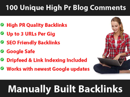 Manually build up to 3000 unique HIGH PR blog comment Backlinks and DripFeed them