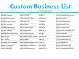Do custom business list according to your needs