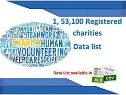 Provide 1,53,100 UK registered Charity Database