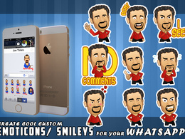 Create cartoon Emoticons/Avatars from your face for Whatsapp