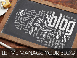 Manage your online blog for your business for 5 days