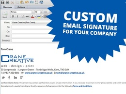 Design and supply a custom HTML email signature with your logo & title