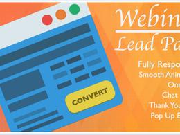 Create a High Conversion Webinar Page