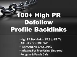 Create 100+ dofollow highly authorized Google dominating profile backlinks