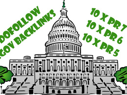 Build 10xPR8 and 10xPR7 Gov backlinks