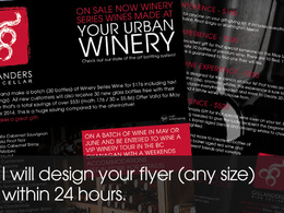 Design a double sided flyer of any size